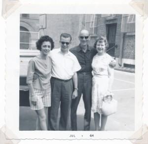 Carolyn & Merv Clark (Bank Manager) Walter Nuhn, Ruby Grein