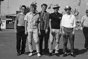 Dennis Schneider, Brian Tone, Gary Tone, Randy Grein, John Hawkins CNE 1964