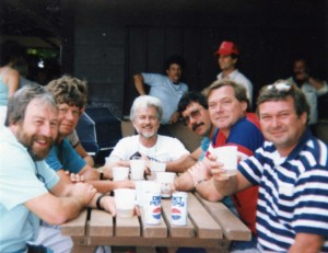 Dave Seifert, Doug Scott, John Hawkins (at end) Keith Wettlaufer, Don Mauer, Randy Grein