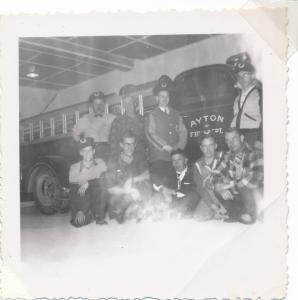 Otto Bender, Herman Grein, Bun Widmeyer, Dick Schenk, front Reuben Grein, Buster Doersam, Cyril Tone, Bill Brusso, Ernie Hahn