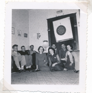 Pete Doersam, Bill Brusso (x) Tweed Widmeyer, Meta Grein-Tone, Reuben Grein, Dick Schenk, Marg Schenk