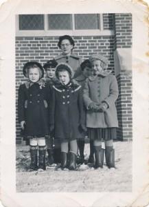 Audrey Schenk, Deanna Wittich, Carolyn Fischer, Jean Tone, Mary Lou Ahrens, Violet Fischer