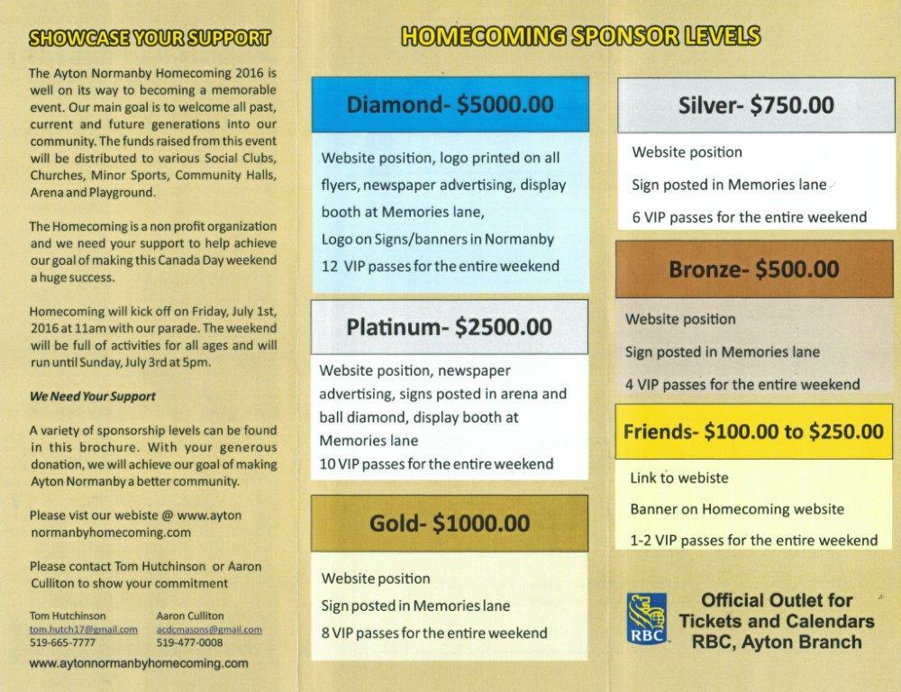 Sponsor Brochure